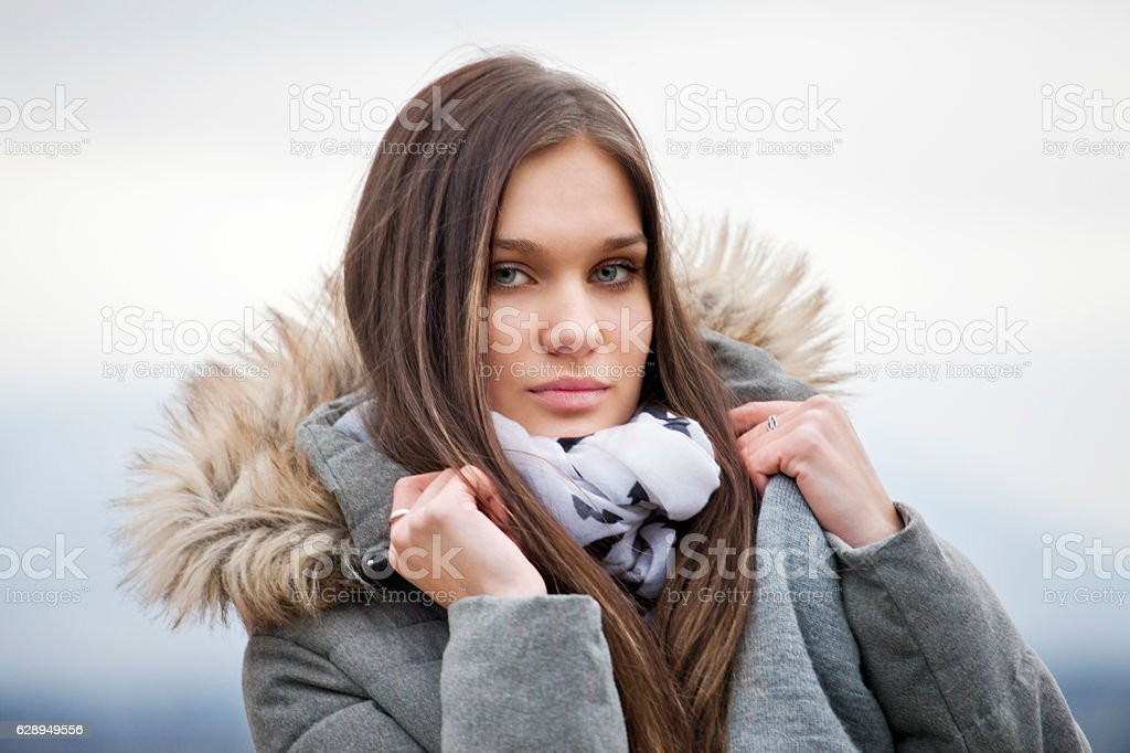 It is cold outdoors stock photo