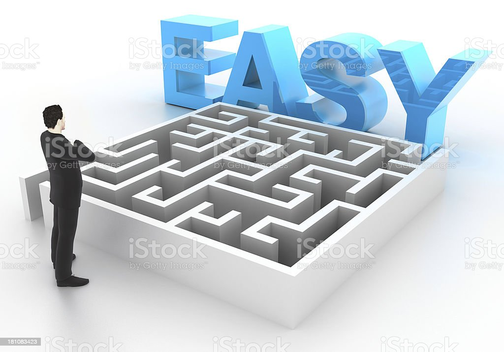 It is Easy royalty-free stock photo