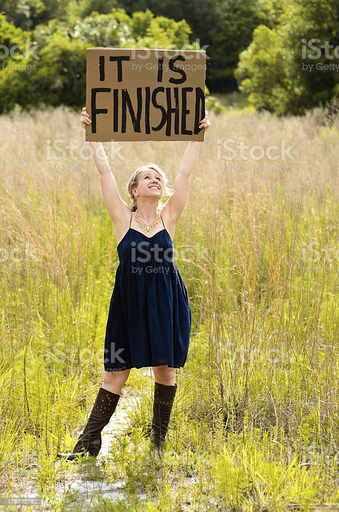 It is Finished royalty-free stock photo
