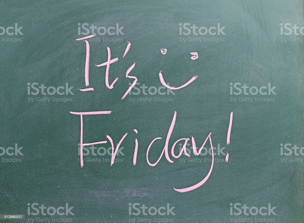 It is Friday ! stock photo