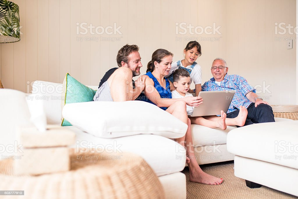 It is great when all family is together! stock photo