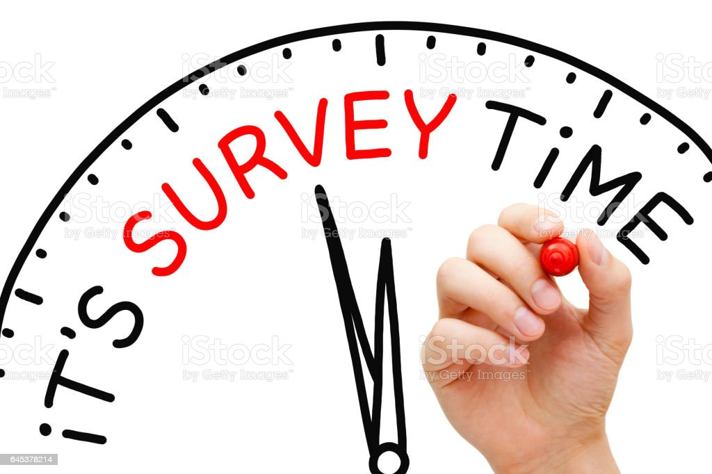 It Is Survey Time Concept stock photo