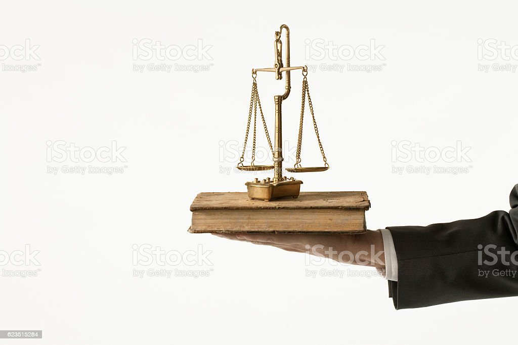 It is the law stock photo