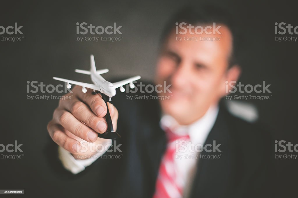 It is time for a new business trip stock photo