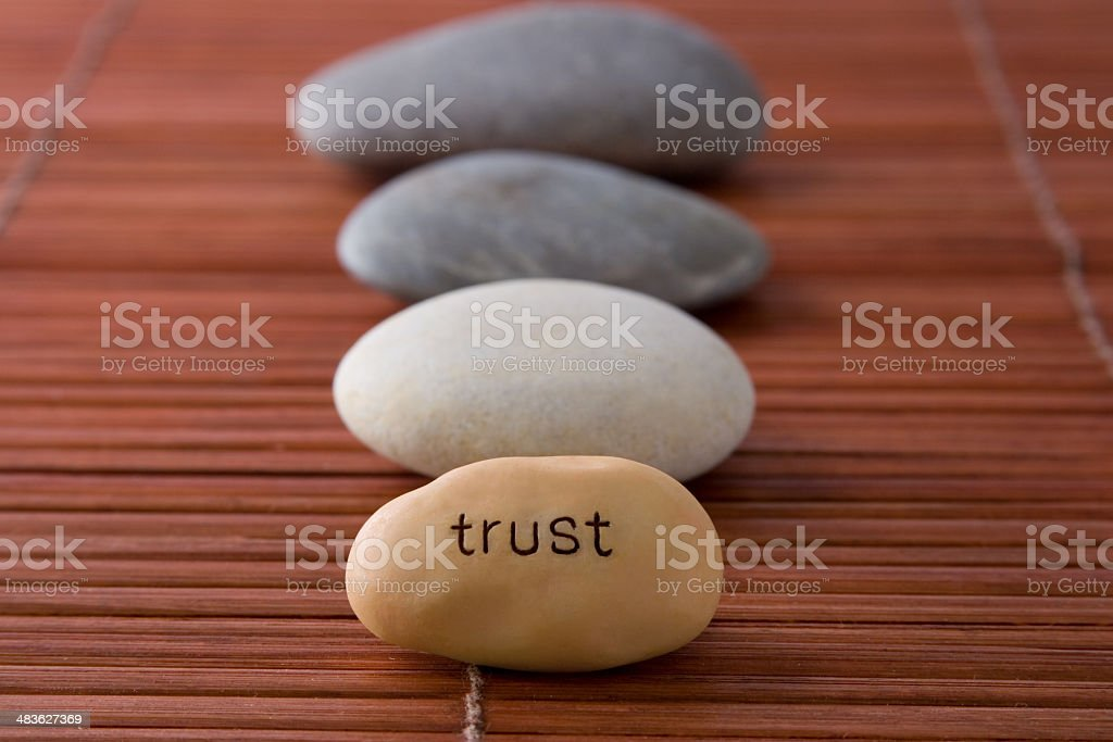 It leads to Trust royalty-free stock photo