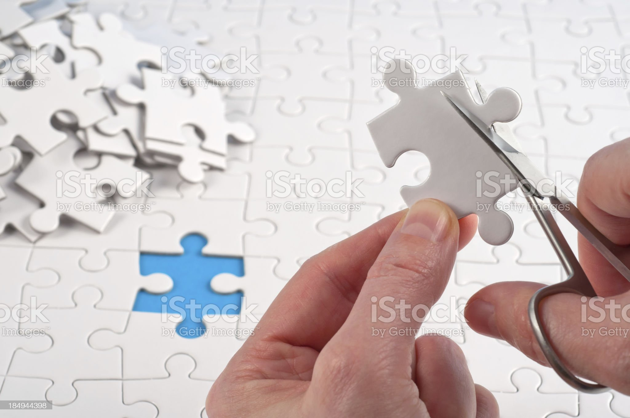 it must be the right jigsaw piece! royalty-free stock photo