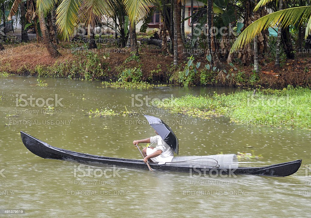 It never rains but...Kerala, India stock photo