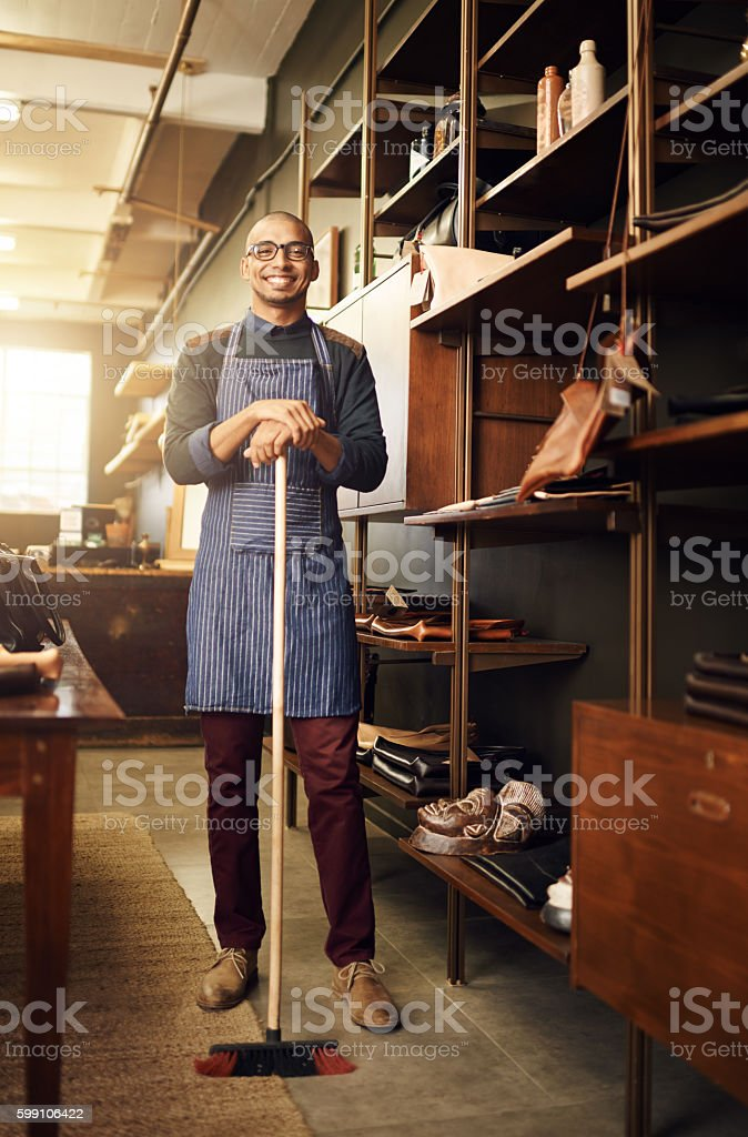It pays to keep a clean shop stock photo