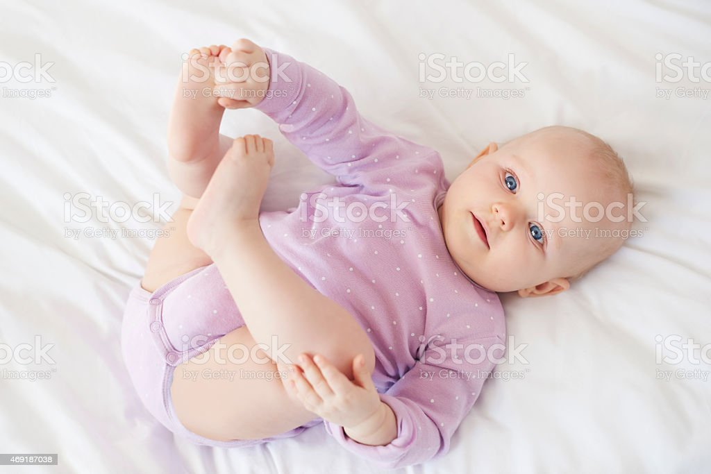 It so nice looking on little baby stock photo