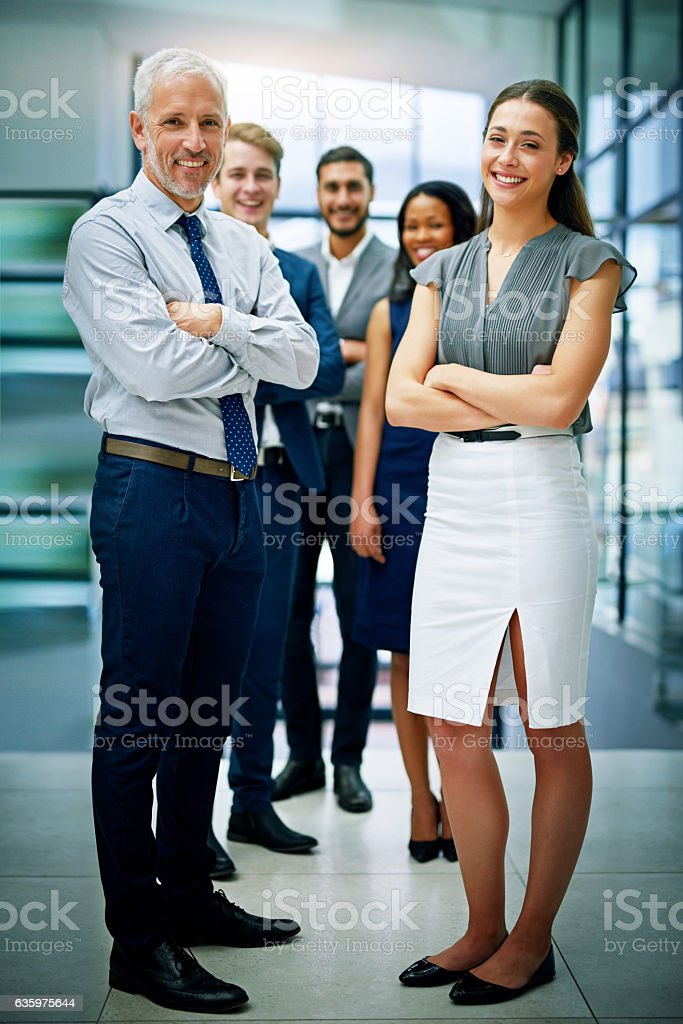 It takes a dedicated team to build a successful business stock photo