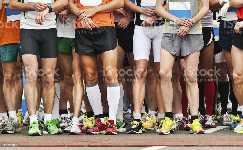 it takes all kinds to help finish the race royalty-free stock photo