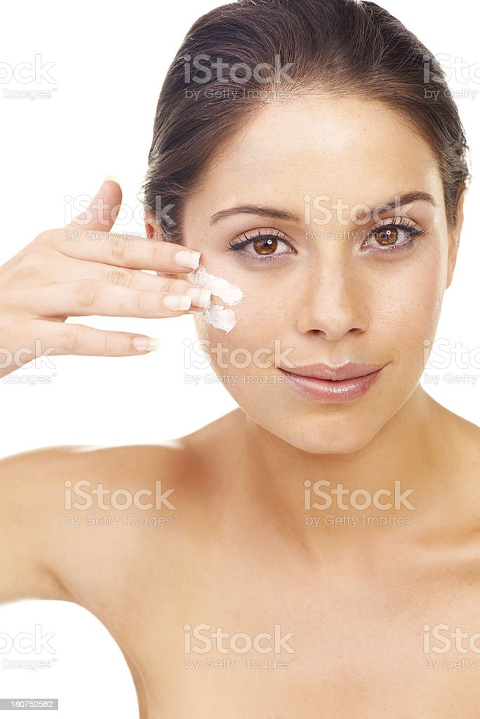 It takes time to maintain a flawless complexion royalty-free stock photo