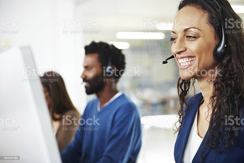 It was a pleasure to help! stock photo