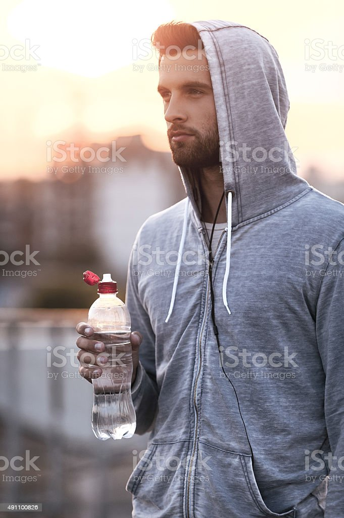 It was good workout. stock photo
