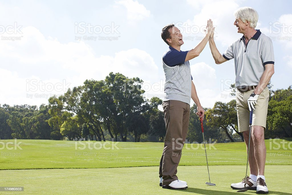 It was great golfing with you! royalty-free stock photo