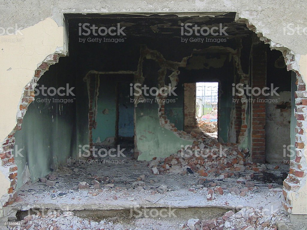 It was once somebody's home - War & Conflict stock photo