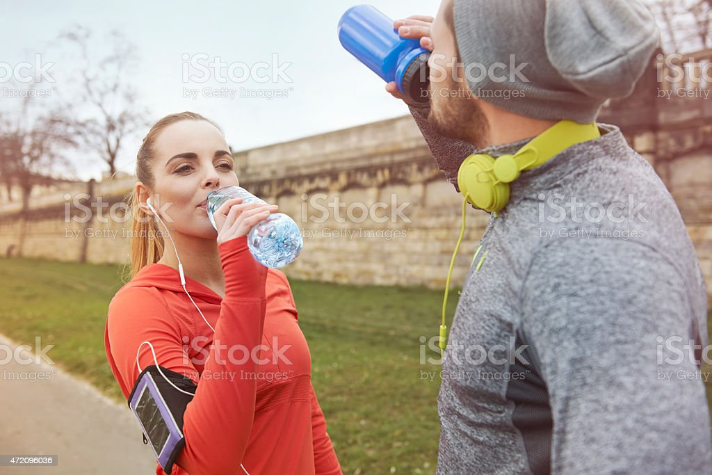 It was really hard workout stock photo