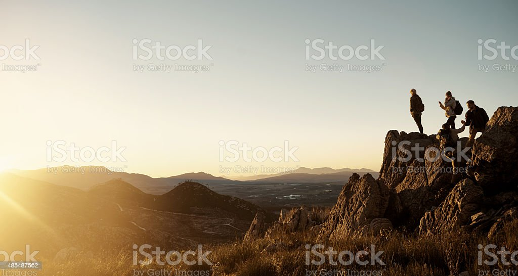 It was worth every step! stock photo