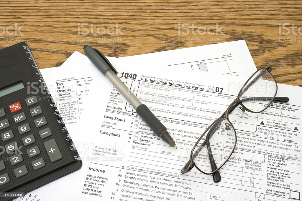 It's Tax Time! stock photo