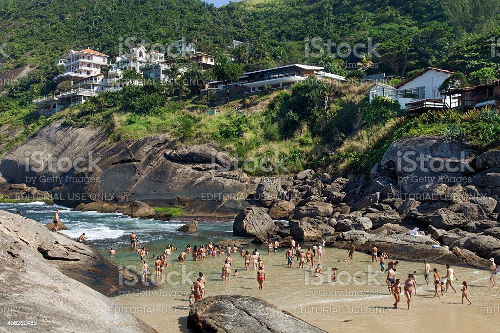 Itacoatiara Beach in Niteroi city royalty-free stock photo