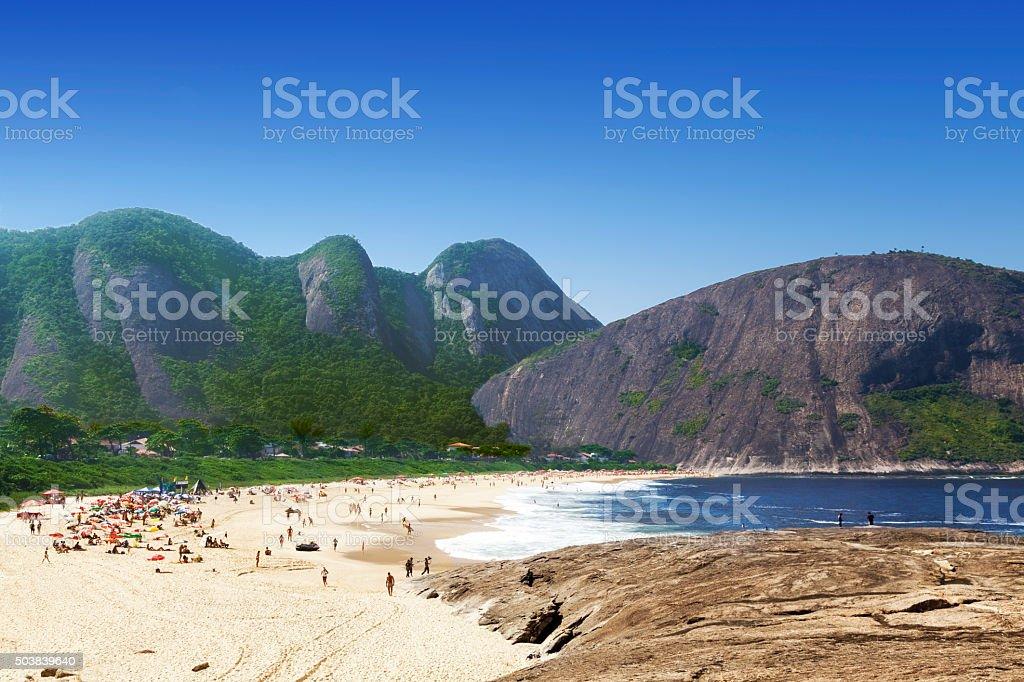 Itacoatiara Beach in Niteroi city stock photo