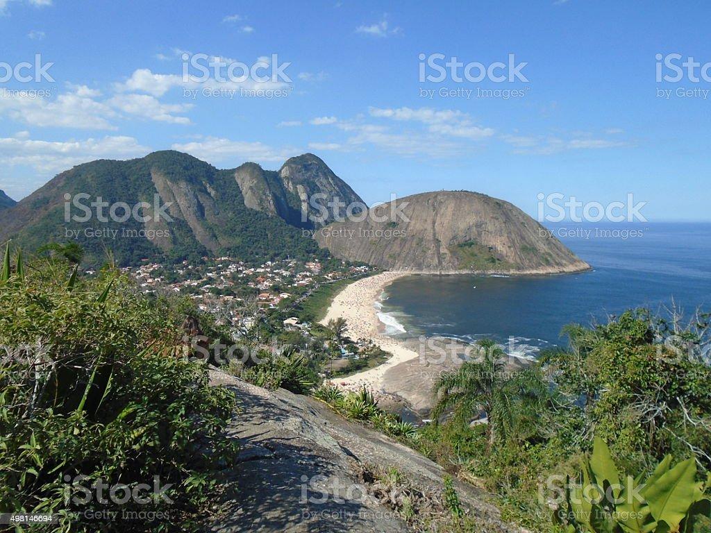 Itacoatiara beach - Niterói, Rio de Janeiro, Brazil stock photo