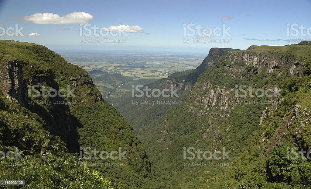 Itaimbezinho canyon, Brazil stock photo