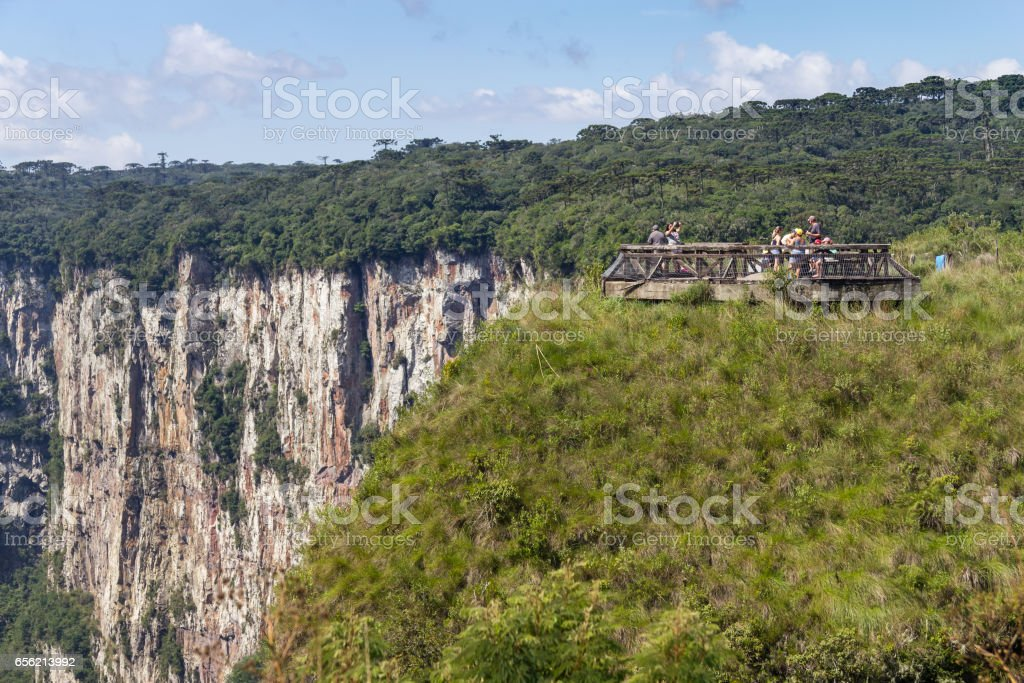 Itaimbezinho Canyon stock photo