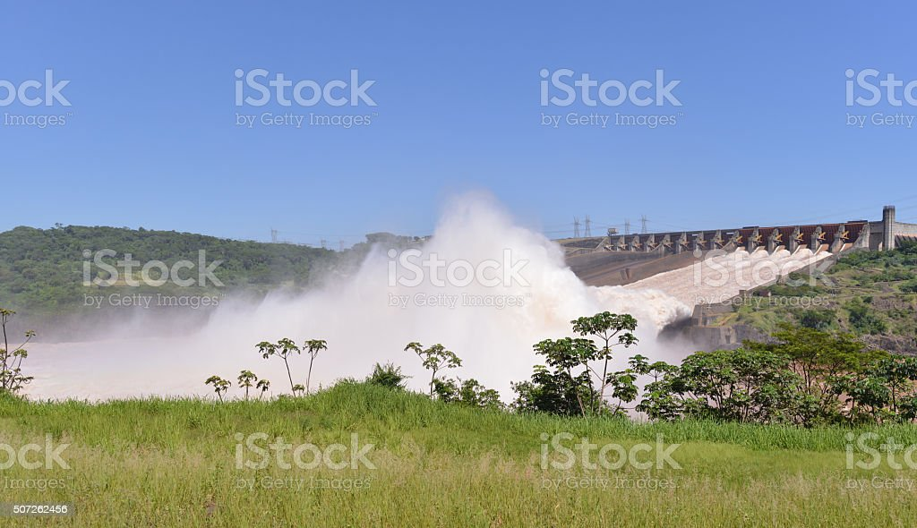Itaipava dam, Brazil stock photo
