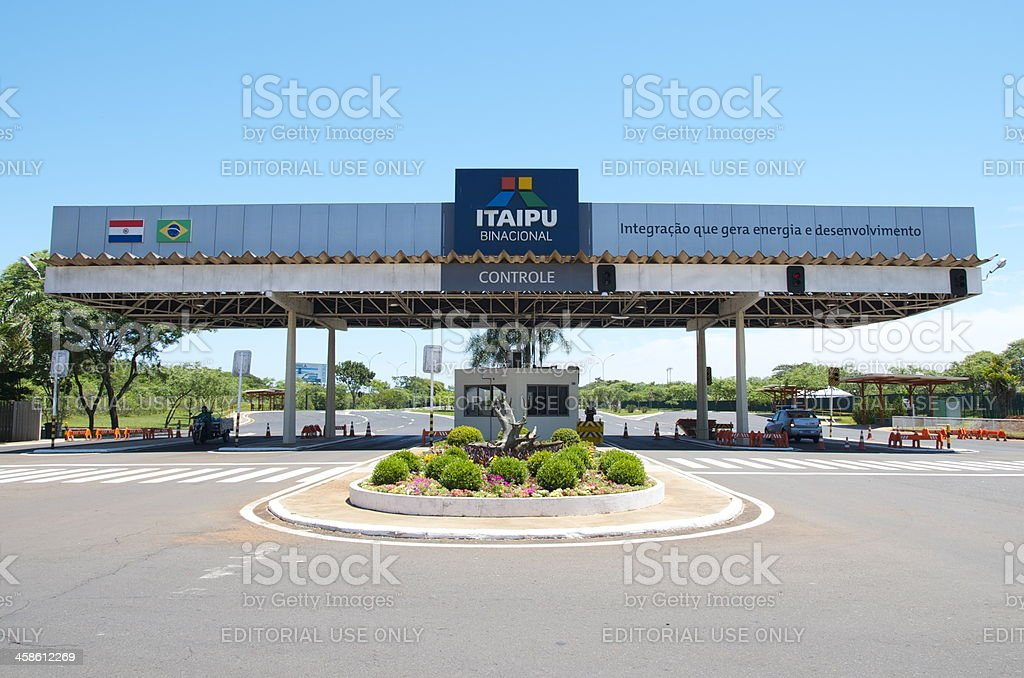 Itaipu Binacional stock photo