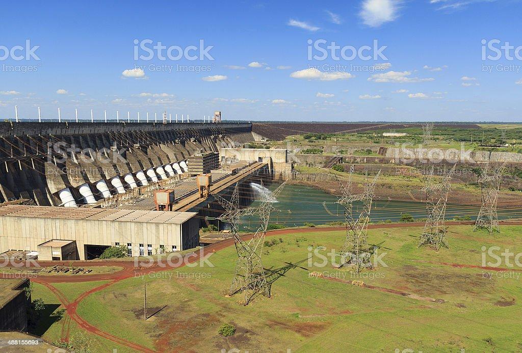 Itaipu Dam, Brazil, Paraguay stock photo
