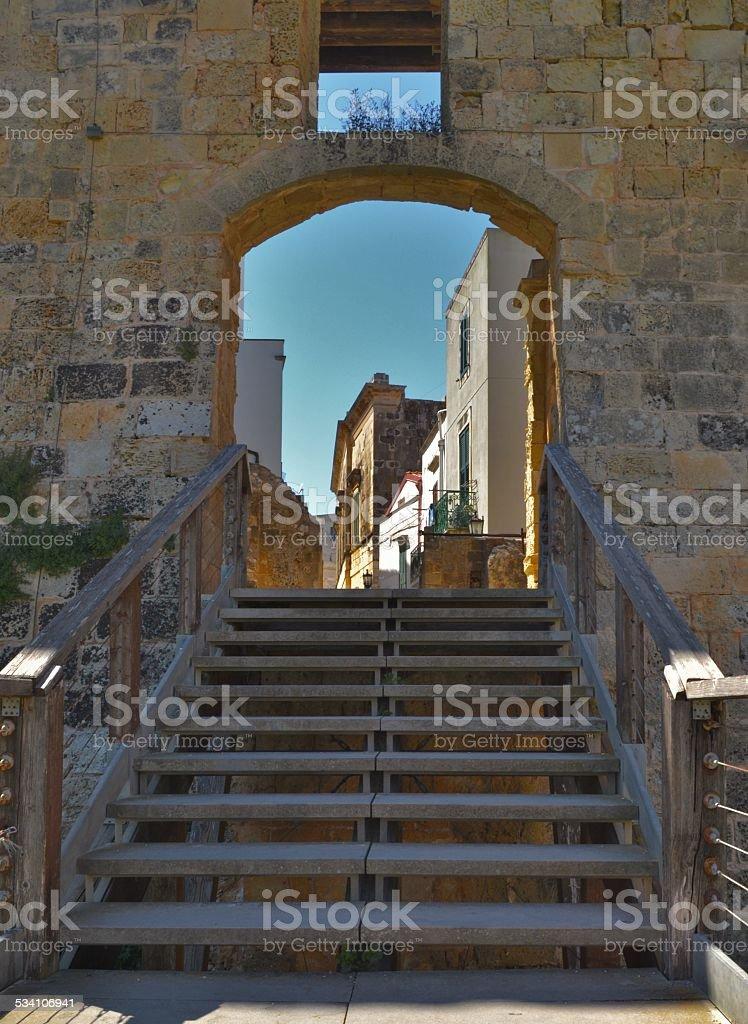 L'Italia del sud. Otranto's old town stock photo