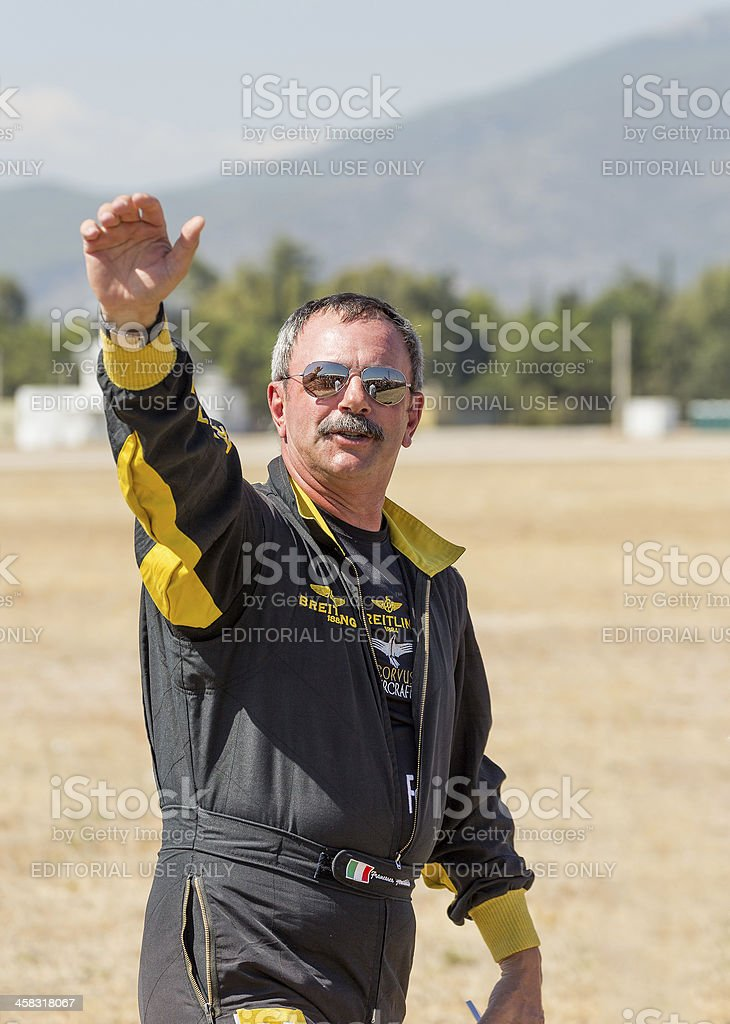 Italian aerobatic champion Francesco Fornabaio royalty-free stock photo
