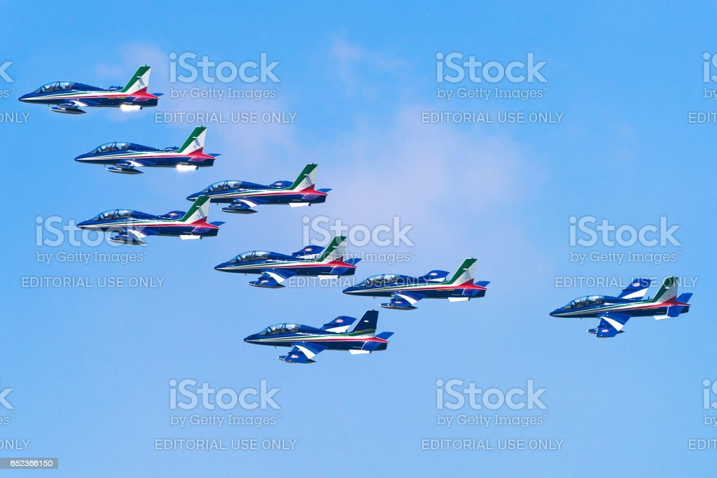 Italian aerobatics team,3 stock photo