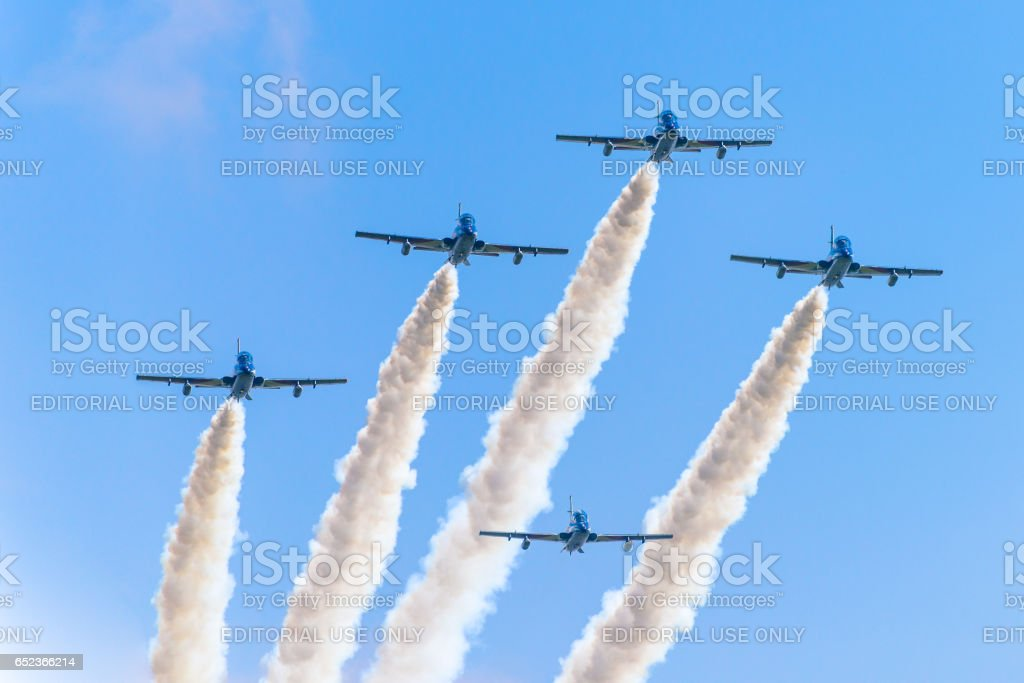Italian aerobatics team,4 stock photo