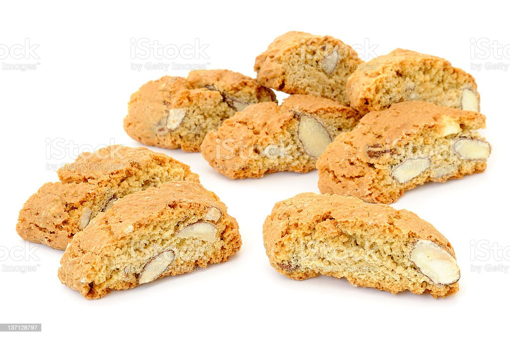 Italian Almond Biscuits 'Cantucci' royalty-free stock photo