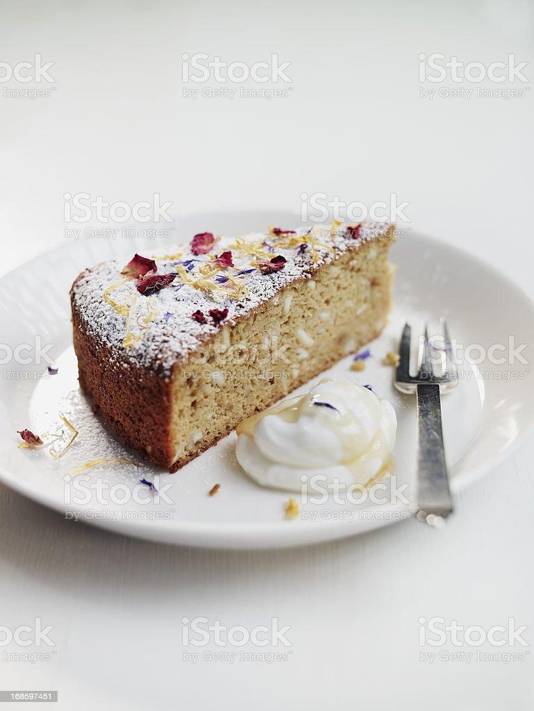Italian Almond cake royalty-free stock photo
