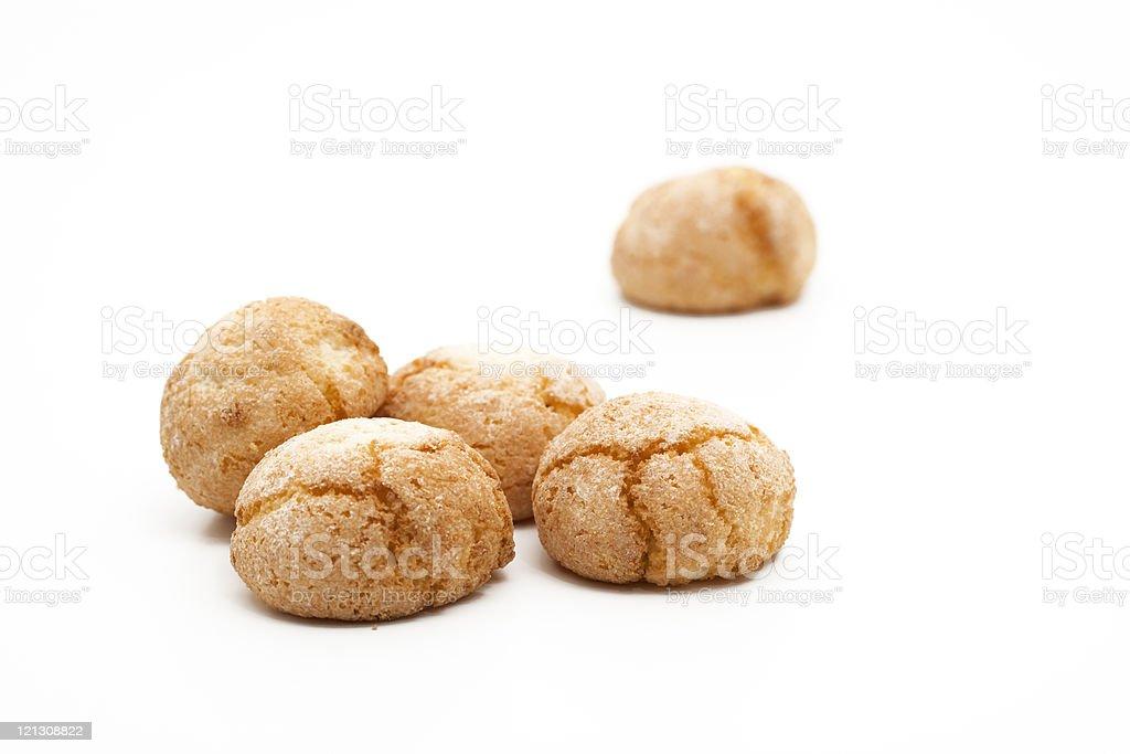 italian almond cookies royalty-free stock photo