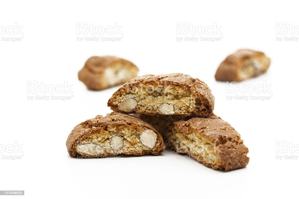 italian almond cookies stock photo