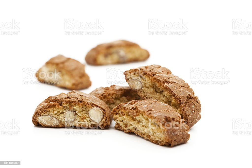 italian almond cookies royalty-free stock photo