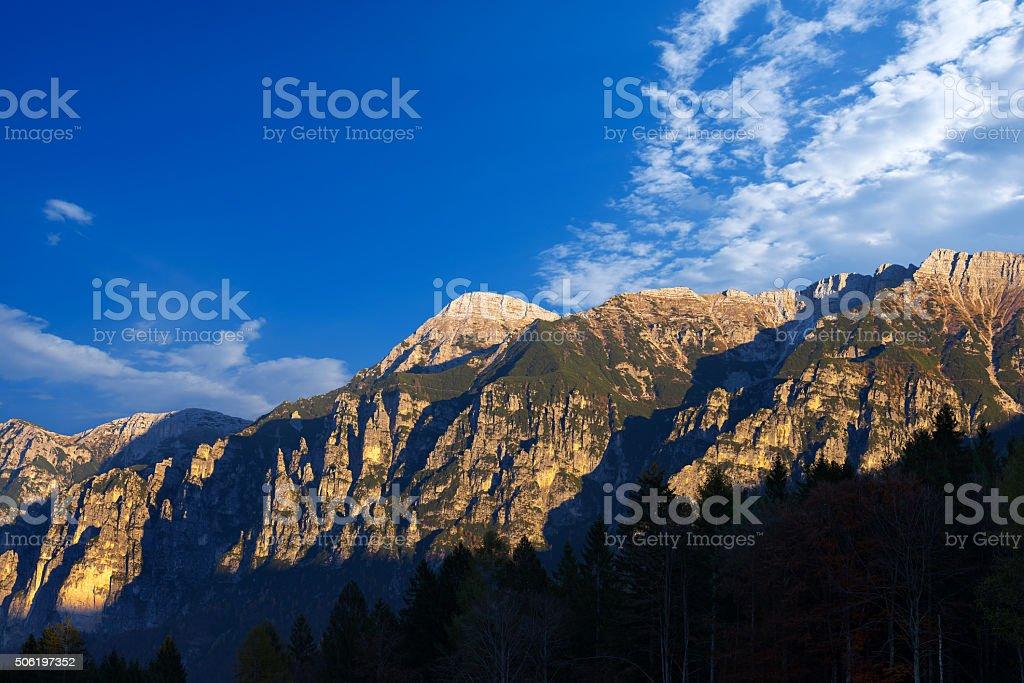 Italian Alps - Cima Dodici stock photo
