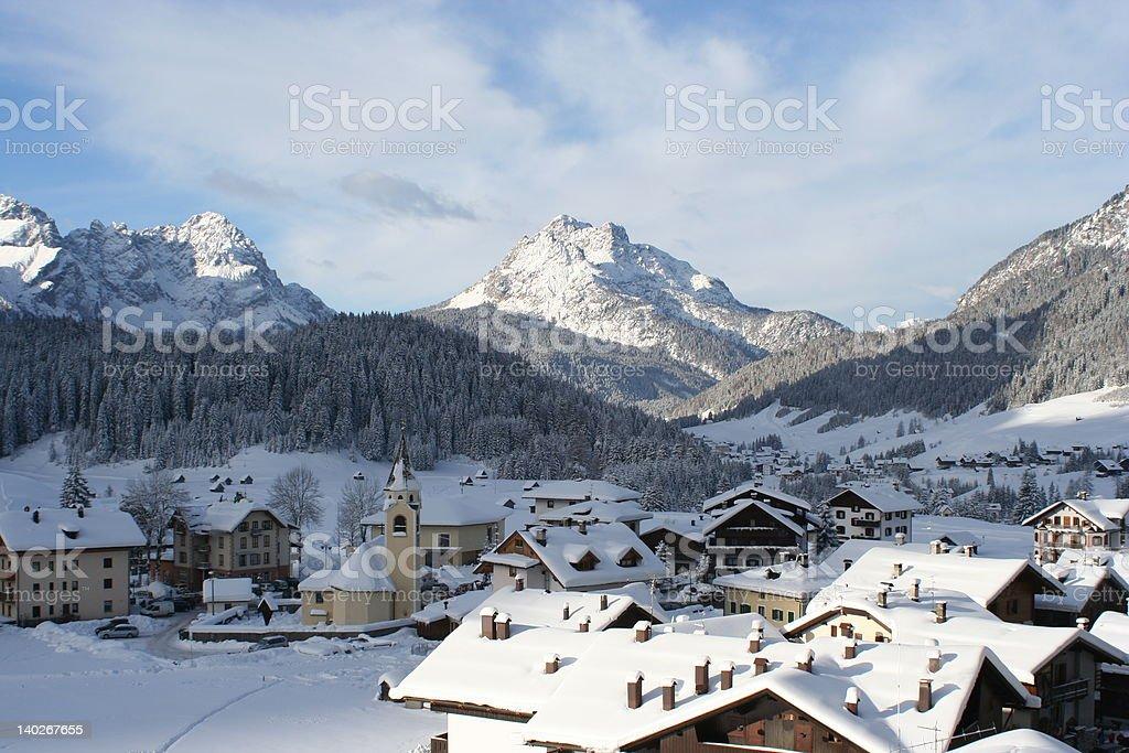 Italian Alps scenery stock photo