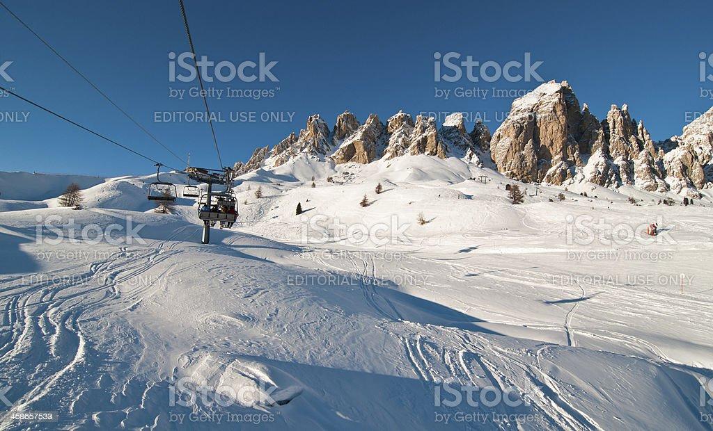 Italian alps ski resort stock photo