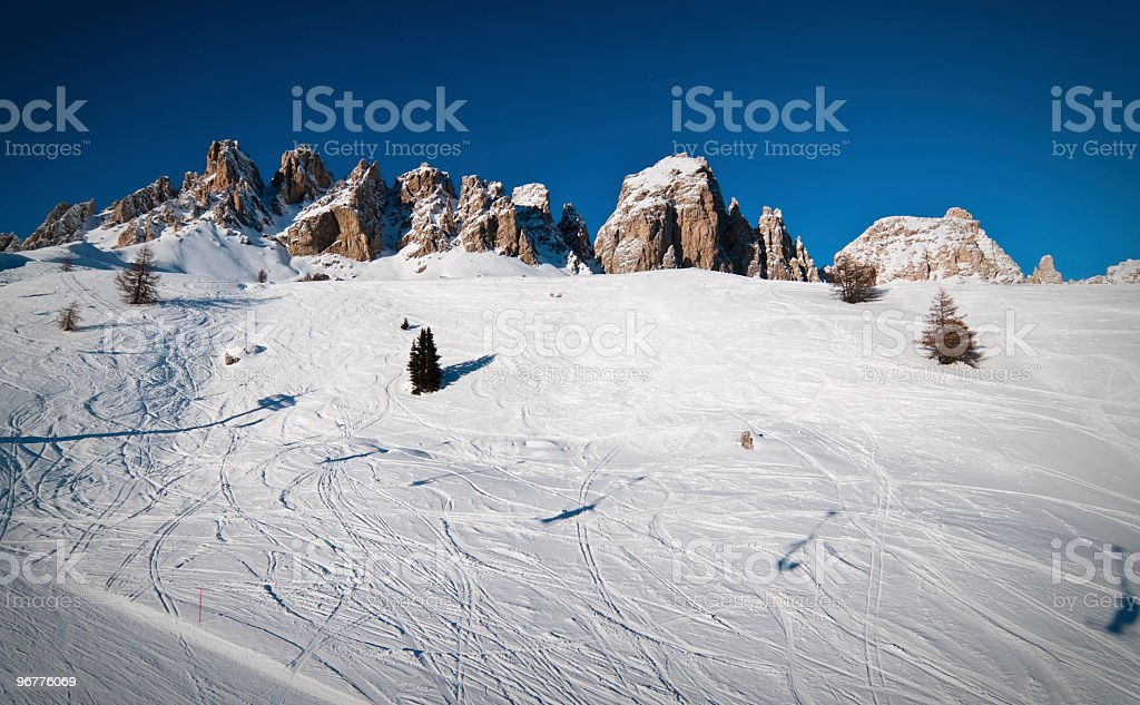 Italian alps ski resort stock photo