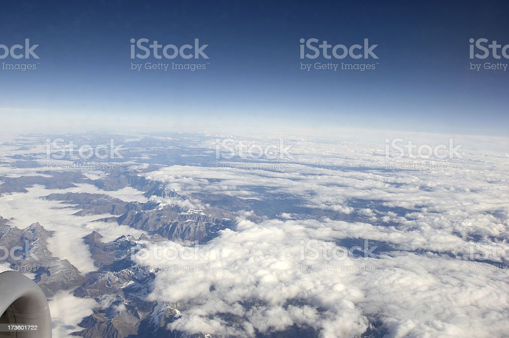 Italian Alps through the clouds royalty-free stock photo