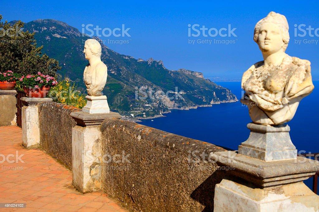 "Italian Amalfi Coast from Belvedere ""Terrace of Infinity"", Ravello stock photo"