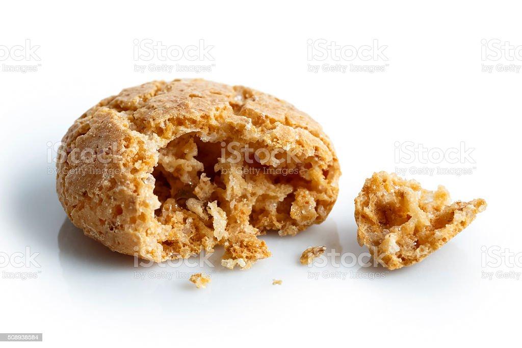Italian amaretti biscuit. stock photo