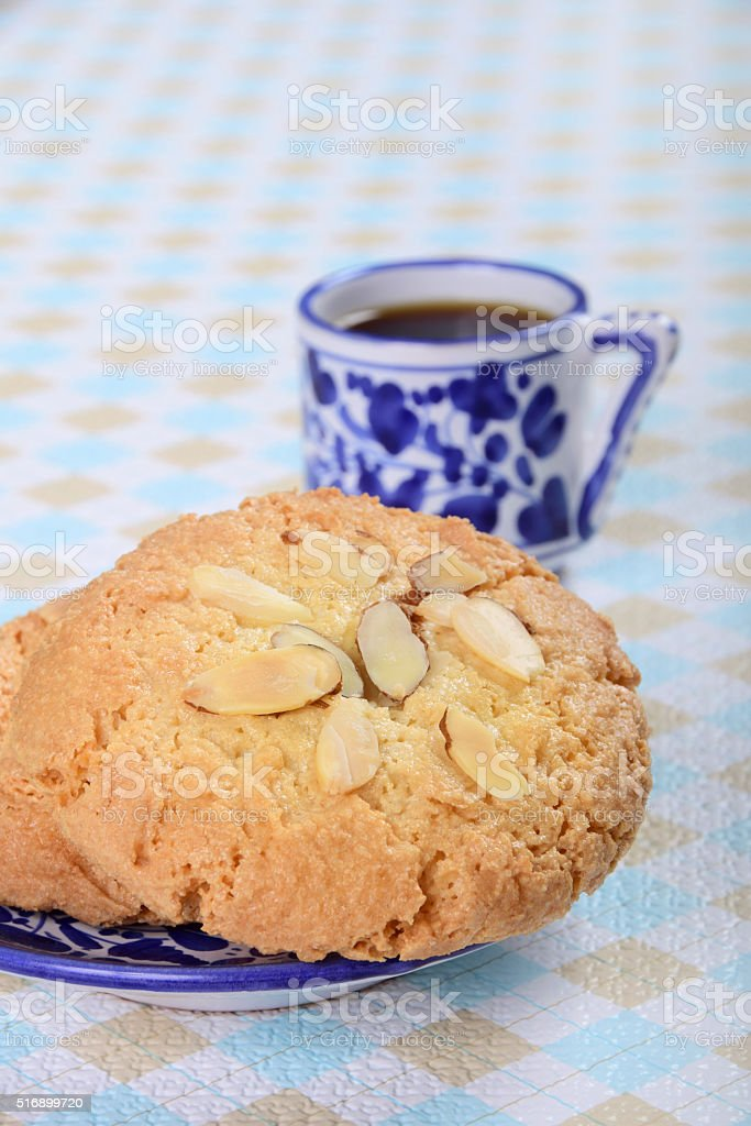 Italian Amaretto Cookies with Espresso stock photo