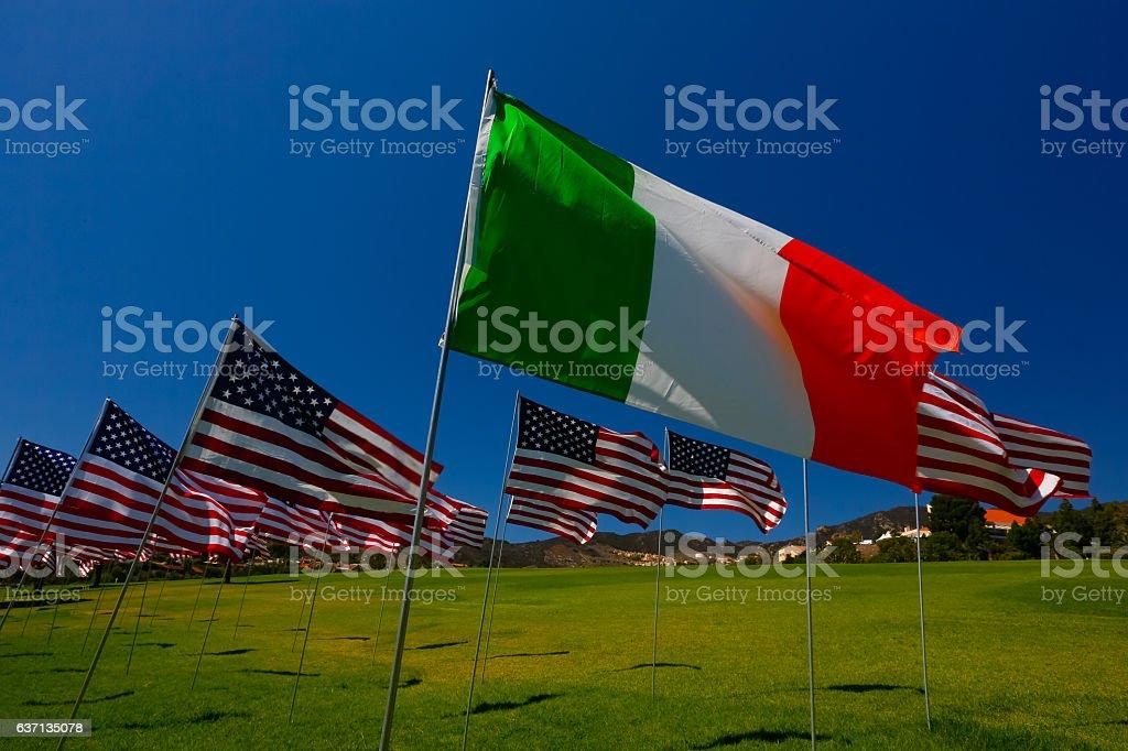 Italian American Relations stock photo