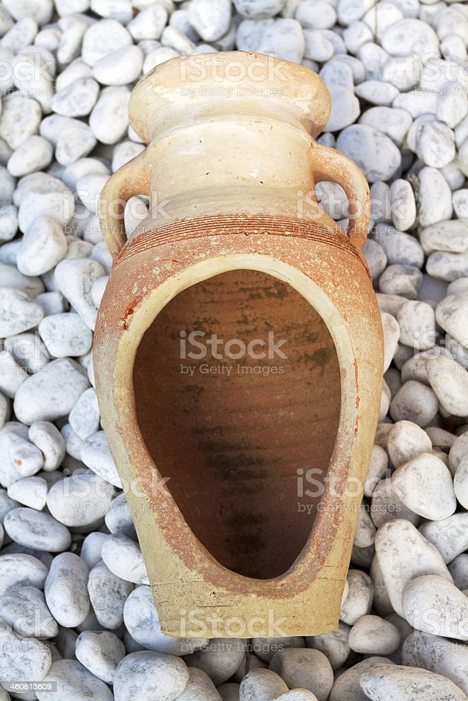 Italian amphora stock photo